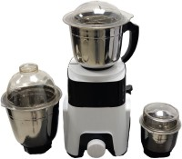 KUMAKA 600 Watts Mixer Grinder with 3 Jars (100% Copper Motor) (White) KMK-SMT01 600 Mixer Grinder(White, Black, 3 Jars)