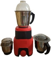 KUMAKA Hi Smart 600 Watts Mixer Grinder with 3 Jars (100% Copper Motor) (Red) KMK-SMT02 600 Mixer Grinder(Red, 3 Jars)