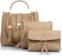 Abeer Collection Women Beige Sling Bag(Pack of: 3)