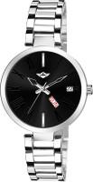 METRONAUT MT-LR703-BKC Elegant Black Dial Day & Date Functioning Stainless Steel Bracelet Watch for Women,Ladies & Girls Analog Watch  - For Women