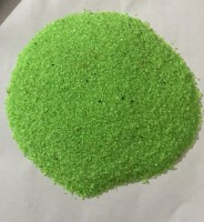 UNIQ WORLD WIDE Sugar Size Crystal Sand for Home, Garden and Aquarium Decor, Parrot Green, 2KG Sand Unplanted Substrate(Green, 2 kg)