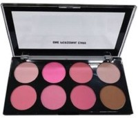 JMK perfect glossy & rosy makeup blusher Platte for perfect blush on your face(multicolro)