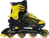 Rihishtoys Rihish toys Skating Shoes Adjustable Inline Skates bearing Wheels Beginner Skates Fun Illuminating Roller Skates for All Boys and Girls In-line Skates - Size 7-9 UK(Yellow)