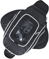 Andride Magnetic flapped Tank cum Sling Bag with Mobile Phone window pocket for All Bikes (Black and White) One-side Black Fabric Motorbike Saddlebag(4 L)