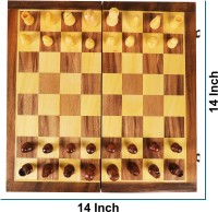 Karigar Creations Studded Wooden Travel Chess Set for Kids Adults Chess Board Folding Family Indoor/ Outdoor Chess Game Strategy & War Games Board Game Strategy & War Games Board Game