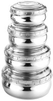 WIBSIL WHITE-04  - 1660 ml Steel Grocery Container, Fridge Container(Pack of 4, White)