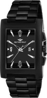 METRONAUT MT-GSQ1007-BKB Black Ion Plated Square Shaped Black Dial Black Stainless Steel Ion Plated Bracelet Premium Watch for Men/Boys Analog Watch  - For Men