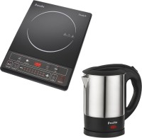 Preethi Armour Electric Kettle with Induction Cooktop(1 L, Silver, Black)