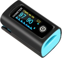 HESLEY Pulse Oximeter Fingertip, Oxygen Saturation Monitor with Plethysmograph and Perfusion Index, Heart Rate and SpO2 Levels Meter with LED Display for Adult Pulse Oximeter(black and blue)