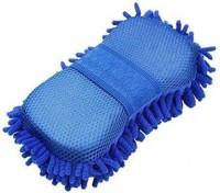 Tinsrom Clean Microfiber Premium Wash Sponge Streak Free & Lint Free Mitt Sponge, Microfiber Vehicle Washing Sponge.. Mitt Sponge (Pack of 1) Mitt Sponge(Pack of 1)