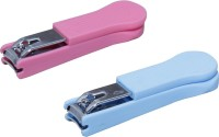 Zhunmun Large Nail Clipper/Nail Cutter For Fingernail Toe nail (Combo of 2, Pink and Blue)
