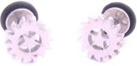 ZIVOM Stainless Steel Mens Ear Stud Pair Earring Glossy Sun Star
