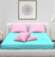 Vomzer 180 TC Microfiber Double King Solid Bedsheet(Pack of 1, Aqua Blue)