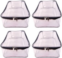 AA COLLECTION Garment cover Pack of 4 pieces High Quality Travelling Bag Large Transparent Mens Shirt Trouser Cover Petticoat Bag Organizer Bag(Transparent, Grey)