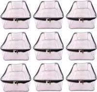 AA COLLECTION Garment cover Pack of 9 pieces High Quality Travelling Bag Large Transparent Mens Shirt Trouser Cover Petticoat Bag Organizer Bag(Transparent, Grey)