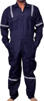 Safe cure Boiler Suit With Reflective Tape XXL Paint Coverall(XXL)