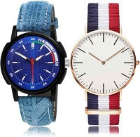 NIKOLA Modern Party Wedding Sports 2 Watch Combo For Boys And Men - BRA23-B50 combo watch Analog Watch  - For Men & Women