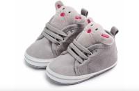 Kutumbh Grey Booties for Kids (0-6 Months)