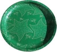 SMILEY Green Buffer plate (100 pcs in 1 pack) - Pack of 1 Dinner Plate(100 Dinner Plate)