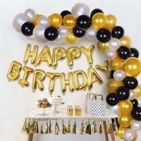 Packkart Birthday Decoration Kit 61 Pcs Set of 1 Golden 13 Pcs