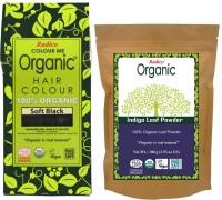 Radico Color Me Organic Soft Black Hair Color + Indigo Powder , Soft Black