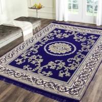R A F Z Blue Cotton Carpet(137 cm  X 183 cm)