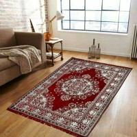 R A F Z Multicolor Cotton Carpet(137 cm  X 183 cm)