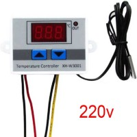 KTC CONS LABS W3001 digital temperature controller microcomputer thermostat switch thermometer new 220v AC thermostat Temperature Sensor and Controller Electronic Hobby Kit