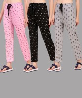 Christy World Printed Women Multicolor Track Pants