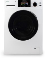 Equator 9/6 kg Sanitize, Allergen, Saree Cycle, Anti-Bacterial Drum Baffles Washer with Dryer with In-built Heater White(EZ 5000 CV)