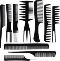 MAYU 10Pcs Pro Salon Hair Cut Styling Hairdressing Barbers Combs Brush Set