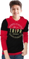 Tripr Boys Printed Cotton Blend T Shirt(Red, Pack of 1)