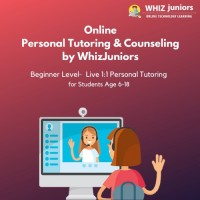 WhizJuniors Online Personal Tutoring & Councilling -Beginner Level 1st Session - Age Group 6-18 Years - ( Voucher ) Vocational & Personal Development(Voucher)