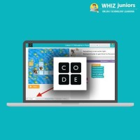 WhizJuniors Code Org eLearning For Kids Age 6 -18 - 1 Year Subscription - ( Voucher ) School(Voucher)