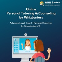 WhizJuniors Online Personal Tutoring & Councilling -Advance Level 1st Session - Age Group 6-18 Years - ( Voucher ) Vocational & Personal Development(Voucher)