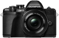 OLYMPUS E-M10 MARK III 1442-EZK SILVER Mirrorless Camera Body with 14 - 42 mm Lens(Black)