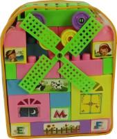 DealBindaas Block Set of 60 pcs Kingdom Blocks for Kids (Multicolor)