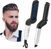 TOPHAVEN Electric Hair Straightener Brush Hair Straightener(Multicolor)