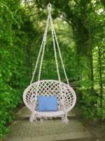 Swingzy Handmade Cotton Hanging Swing Cotton, Wooden Small Swing