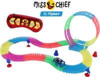 Toyvala Unique Magic Car Track For Kids Model Track Construction Magic Tracks For Kids Glow In Dark Flexible Tracks Car Play Set For Kids Magic Race Bend Flex With 6 Function Remote Control (Multicolor)