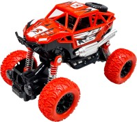 Toyshack Toyshack Pull Back Rock Crawler Off Road Truck Die Cast Vehicle with Rubber Wheels for Kids(Red)