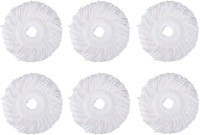 bronet Mop Replacement Head Refill for 360 degree --SET OF 6-- Refill(White)