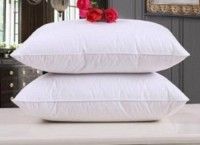 Boggy Polyester Fibre Solid Sleeping Pillow Pack of 2(White)