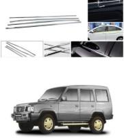 bvcrop Lower Window Garnish (Chrome) Set of 4 Compatible with 061 Chrome Tata Universal For Car Rear Garnish