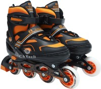 cktech Children's Inline Skates Unisex Indoor and Outdoor Adjustable Size Roller Shoes Children's Flash ABEC-7 Bearing Wheel Best for Boys and Girls Gifts Full Edition Inline Skating with Bag In-line Skates - Size 7-9 UK(Multicolor)