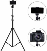 PHAGQU 5 Feet Tripod Stand For Light, Mobile Phone, Camera for Beauty Parlor Saloon Studio Bridal Make Over with 360 Degree Rotational Compatible With All Mobile Phones & Cameras Tripod, Tripod Kit, Monopod, Monopod Kit, Tripod Bracket(Black, Supports Up to 1000 g)
