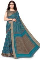 Mirchi Fashion Printed Fashion Cotton Blend, Polycotton Saree(Blue, Beige)
