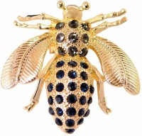 STRIPES Black with Gold Cute Crystal Honeybee Brooch Pins for Unisex Brooch(Multicolor)