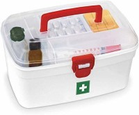 Docto Medical First Aid Kit Emergency Medicine Storage Box Baby Drugs Medicine Chest Box First Aid Kit (Home, Workplace) First Aid Kit(Home, Sports and Fitness, Workplace, Vehicle)