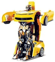 Kashti new toys chehar enterprise 2in1 Converting Transformer Robot Car Toy for Kids yellow (colour may be vari) (Yellow)